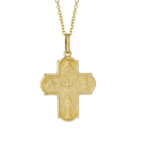 18KT Yellow Gold Scapular Cross