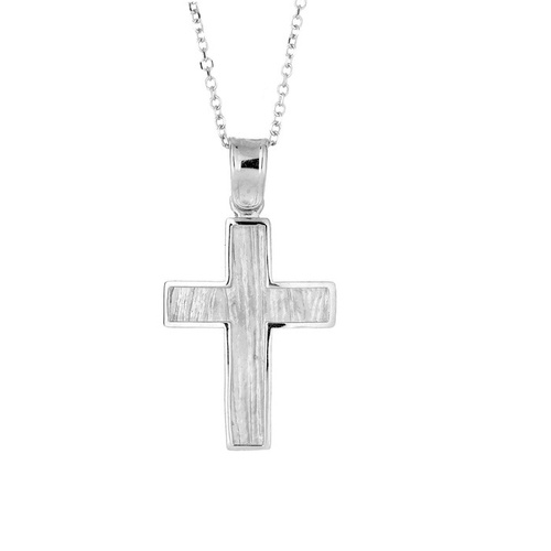 9KT White Gold Cross Cross  21x15.6