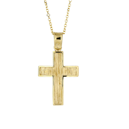 9KT Yellow Gold Cross Pendant
