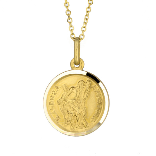 9KT Yellow Gold St Andrew Medal Pendant