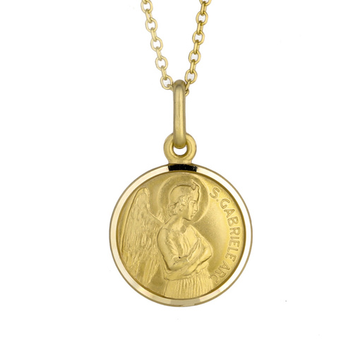 9KT Yellow Gold St Gabriel Medal Pendant